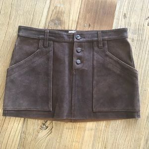 Joie leather skirt